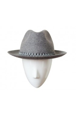 TURNED BRIM HAT RABBIT MELANGE
