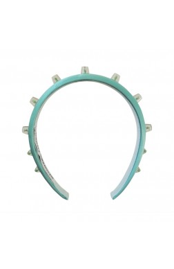 THIN HAIRBAND WITH STUDS AND COLOURED INTERIOR