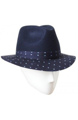 FEDORA WITH DOTS BRIM