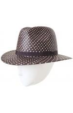 TWO-COLOURED PANAMA FEDORA HAT